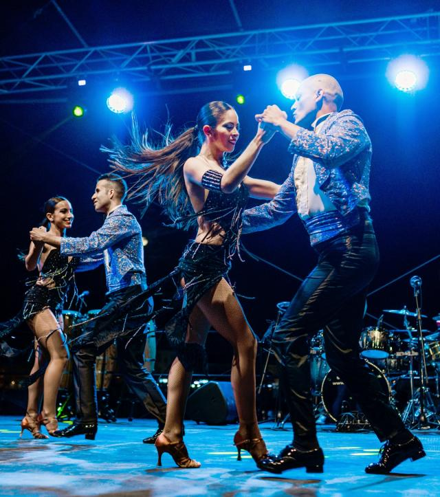 Adolfo Indacochea and Latin Soul Dancers