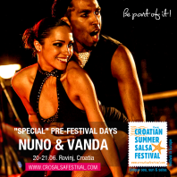 Nuno & Vanda on Croatian Summer Salsa Festival